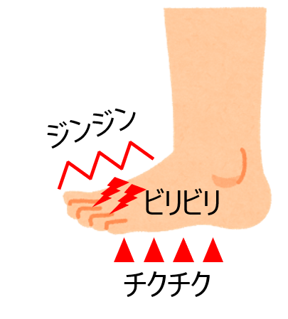 の 指 しびれ 足